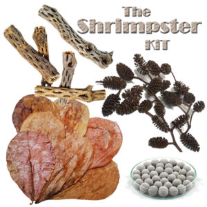Shrimp Kit w/Mineral Balls, Cholla Wood,<br> Almond Leaves, and Alder Cones